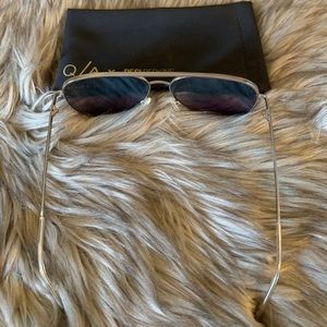 Quay Australia Accessories - Quay x Desi High Key Blue/silver Sunglasses/